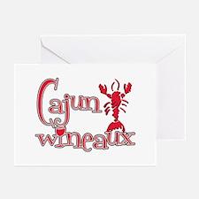 Cajun Wineaux crawfish red Greeting Cards (Pk of 1