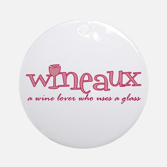 Wineaux def Ornament (Round)