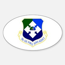 HQ News Agency Oval Decal