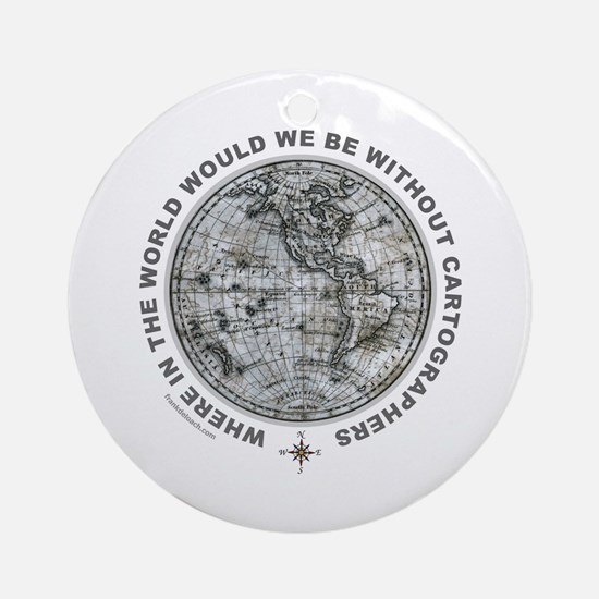 MAP/CARTOGRAPHY Ornament (Round)