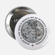 """MAP/CARTOGRAPHY 2.25"""" Button (100 pack)"""