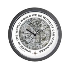 MAP/CARTOGRAPHY Wall Clock