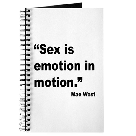 Mae West Emotion Quote Journal