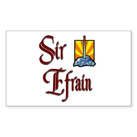 Sir Efrain Rectangle Sticker