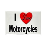 I Love Motorcycles Rectangle Magnet (10 pack)