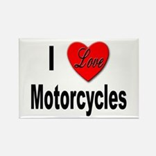 I Love Motorcycles Rectangle Magnet