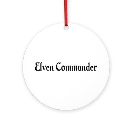 Elven Commander Ornament (Round)