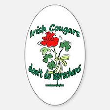 IRISH COUGAR Oval Decal