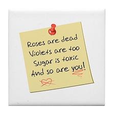 """""""Rose Poem"""" Tile Coaster"""