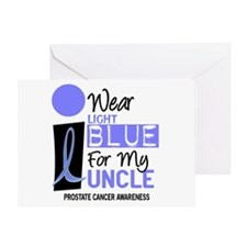 I Wear Light Blue For My Uncle 9 Greeting Card