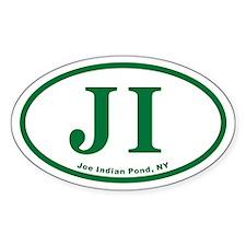 Joe Indian Pond JI Euro Oval Decal