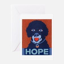 Porties For Obama Greeting Card