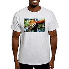 RED PANDA Ash Grey T-Shirt