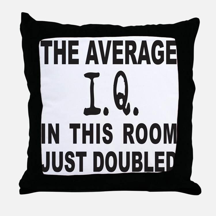 INTELLIGENCE/I.Q. Throw Pillow