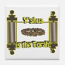 Y'shua is the Torah! Tile Coaster