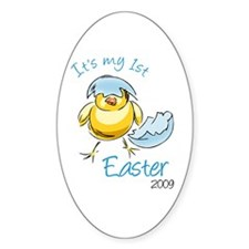 It's My First Easter '09 Oval Decal