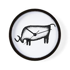 Bull-black & white Wall Clock