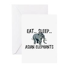 Eat ... Sleep ... ASIAN ELEPHANTS Greeting Cards (