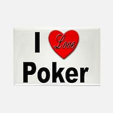 I Love Poker Rectangle Magnet