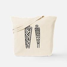 Pictograph Men - black & whit Tote Bag