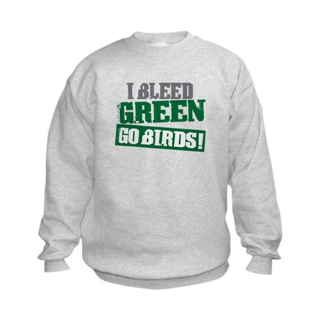 I Bleed Green (Philly) Kids Sweatshirt