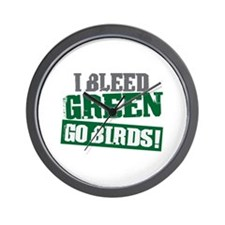I Bleed Green (Philly) Wall Clock