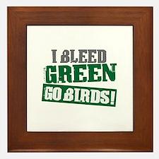 I Bleed Green (Philly) Framed Tile