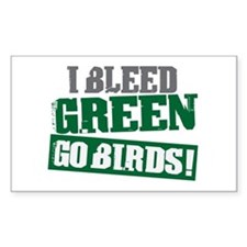 I Bleed Green (Philly) Rectangle Decal