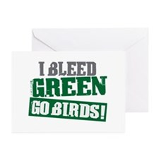 I Bleed Green (Philly) Greeting Cards (Pk of 20)