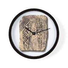 Pictograph Men - stone Wall Clock