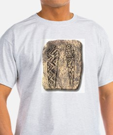Pictograph Men - stone T-Shirt