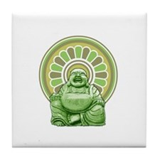 Laughing Buddha Tile Coaster