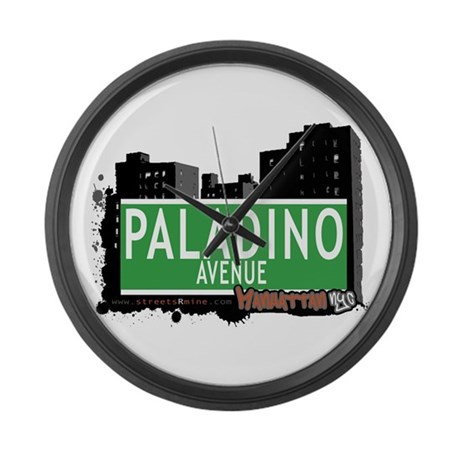 PALADINO AVENUE, MANHATTAN, NYC Large Wall Clock