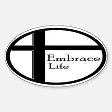 Embrace Life Oval Decal