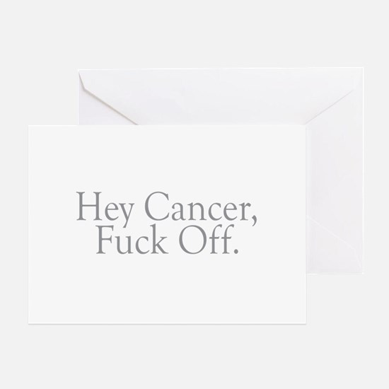 Cancer Fuck Off Greeting Card