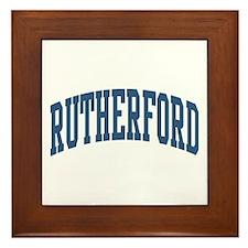 Rutherford Collegiate Style Name Framed Tile