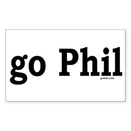go Phil Rectangle Sticker
