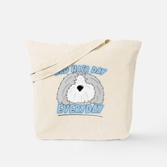 Bad Hair Day Sheepdog Tote Bag
