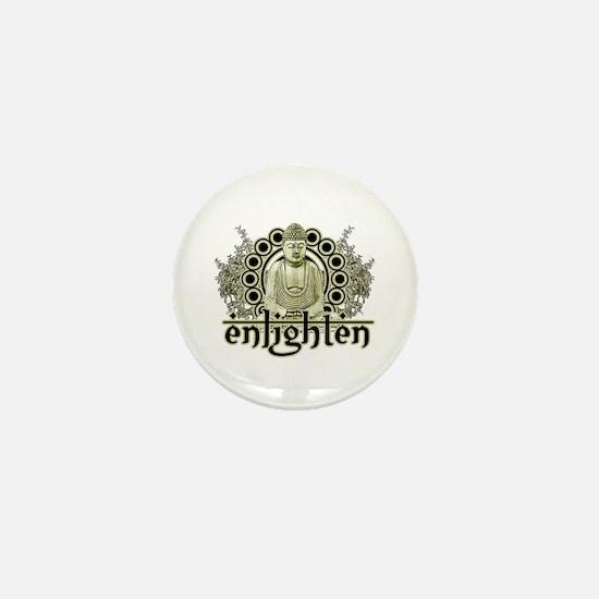 "Buddha ""Enlighten"" Mini Button"