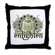 """Buddha """"Enlighten"""" Throw Pillow"""