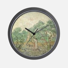 Van Gogh Olive Picking Wall Clock