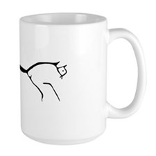 Uffington Horse-black & white Mug