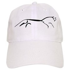 Uffington Horse-black & white Baseball Cap