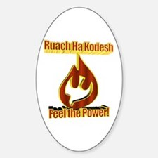 Feel the Power! Oval Decal