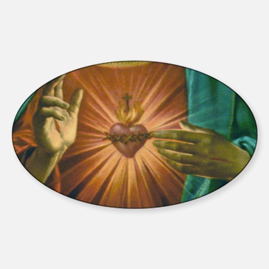 Sacred Heart 2 Oval Decal