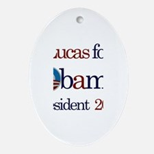 Lucas for Obama 2012 Oval Ornament