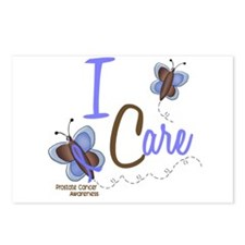 I Care 1 Butterfly 2 PROSTATE Postcards (Package o