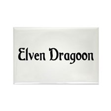Elven Dragoon Rectangle Magnet