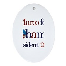 Marco for Obama 2012 Oval Ornament