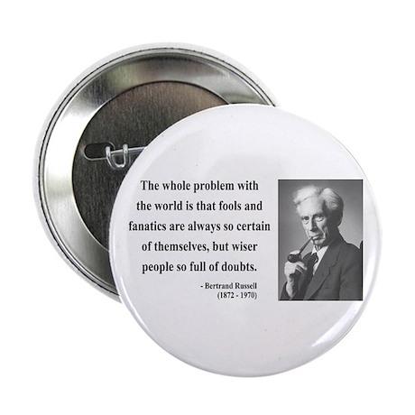 """Bertrand Russell 2 2.25"""" Button"""